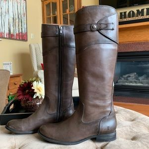Frye Molly Button Leather Riding Boots Sz 8.5